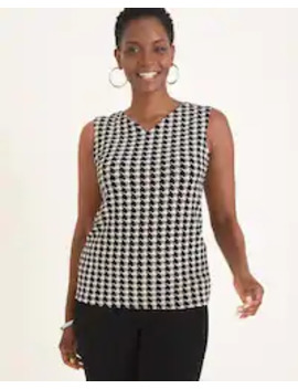 Travelers Essentials Convertible Houndstooth Tank by Travelers Classic