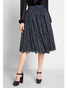 Mod Cloth X Collectif More Or Lace Midi Skirt by Collectif