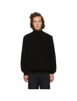 black-wool-slusson-turtleneck by hugo