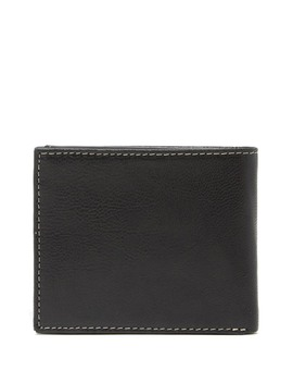 Contrast Stitch Leather Passcase Wallet by Timberland