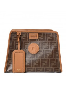 Fendi Zucca Spalmati Peekaboo Defender Cover Caramello by Fendi