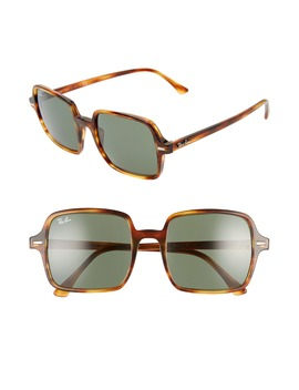 53mm Square Sunglasses by Ray Ban