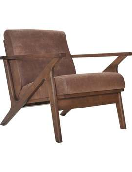 Omax Decor Zola Lounge Chair   Walnut Finish   Brown by Omax Decor