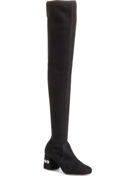 Rocchetto Over The Knee Boot by Miu Miu