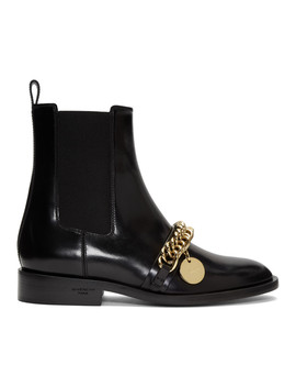 Black Chain Charm Chelsea Boots by Givenchy