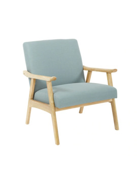 Osp Home Furnishings Weldon Chair With Brushed Finished Frame   Klein Sea by Osp Home Furnishings