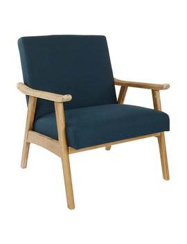 Osp Home Furnishings Weldon Chair With Brushed Finished Frame   Klein Azure by Osp Home Furnishings