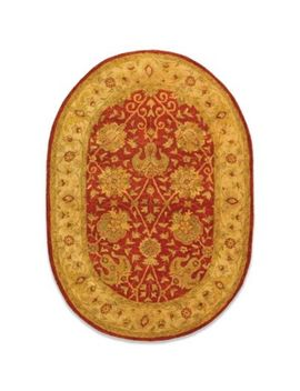 "Safavieh Antiquities Rust Wool 4' 6"" X 6' 6""' Oval Rug by Bed Bath And Beyond"
