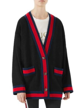 Tweed Oversized Cardigan by Gucci