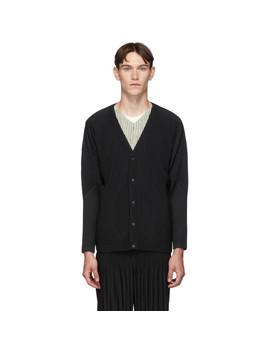 Black Basics Cardigan by Homme PlissÉ Issey Miyake