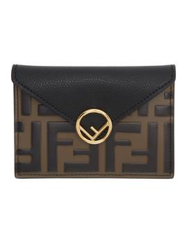 Black & Brown 'forever Fendi' Envelope Pouch by Fendi