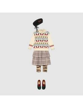 Children's Prince Of Wales Wool Skirt by Gucci