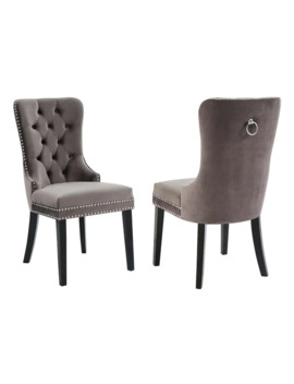 Rizzo Side Chair Set Of 2   Grey by Generic