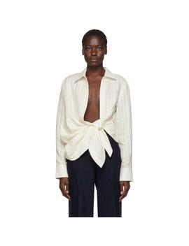 Off White Linen 'la Chemise Bahia' Shirt by Jacquemus