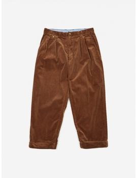 2 Pleats Corduroy Trouser   Golden Brown by Beams Plus
