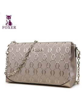 Foxer Women Bag New 2016 Fashion Shoulder Messenger Bag Embossed Chain Bag by Ali Express.Com