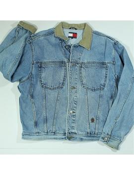 Vintage Tommy Hilfiger Jean Denim Trucker Jacket M by Tommy Hilfiger