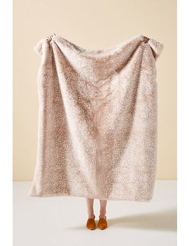 Fawn Faux Fur Throw Blanket by Anthropologie