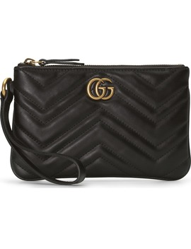 Gg Marmont 2.0 Quilted Leather Wristlet by Gucci