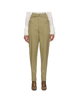 Khaki Lixy Trousers by Isabel Marant