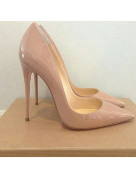 Genshuo Women Pumps Heeled Shoes Nude Pointed Toe Sexy High Heel Shoes Stiletto High Heels Ladies 12 10 8 Cm Big Size 42 by Ali Express.Com