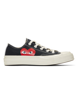 Black Converse Edition Half Heart Chuck 70 Low Sneakers by Comme Des GarÇons Play