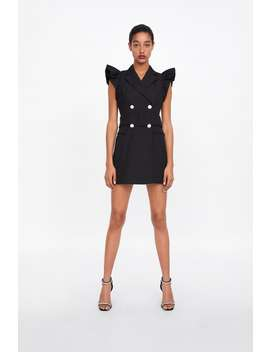 Ruffled Waistcoat Dress by Zara