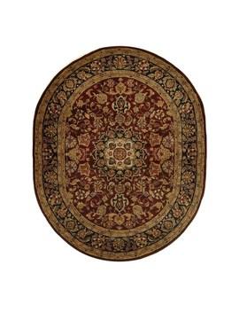 "Safavieh Handmade Classic Vernice Traditional Oriental Wool Rug   7'6"" X 9'6"" Oval   Burgundy/Navy by Safavieh"