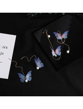 Butterfly Pearl Earrings (2pairs) by Dog Dog