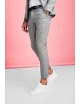Smart Check Skinny Fit Suit Pants by Boohoo Man