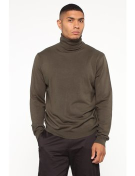 De Angelo Turtleneck Sweater   Olive by Fashion Nova