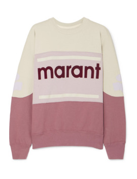 Gallian Flocked Cotton Blend Jersey Sweatshirt by Isabel Marant Étoile