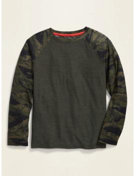 Ultra Soft Breathe On Go Dry Camo Sleeve Tee For Boys by Old Navy