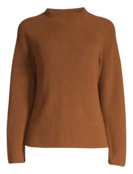 Funnel Neck Sweater by Eileen Fisher