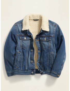 Sherpa Lined Jean Jacket For Boys by Old Navy