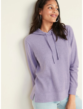 Relaxed Rib Knit Pullover Hoodie For Women by Old Navy