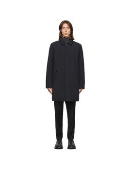 Ssense Exclusive Black Shell Filled Mac Coat by The Very Warm