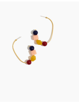 Geometric Stack Hoop Earrings by Madewell