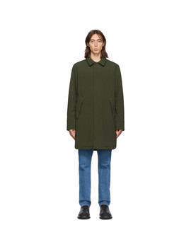Ssense Exclusive Khaki Shell Filled Mac Coat by The Very Warm