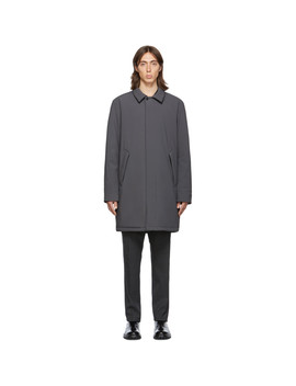 Ssense Exclusive Grey Shell Filled Mac Coat by The Very Warm