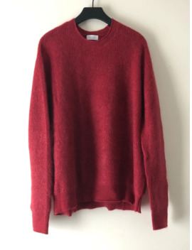 John Elliott Mohair Crewneck Knit Sweater Red Large by John Elliott  ×