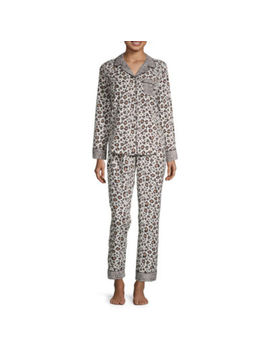 Liz Claiborne Womens Pant Pajama Set 2 Pc. Long Sleeve by Liz Claiborne