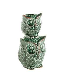 Green Stacked Owls Vase by Pier1 Imports