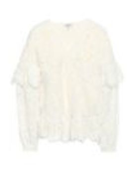Jerome Ruffle Trimmed Corded Lace Peplum Blouse by Ganni
