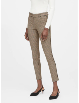 Petite Modern Sloan Skinny Fit Pant With Piping by Banana Repbulic