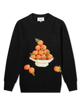 Casablanca Orange Pyramid Crew Knit by Casablanca