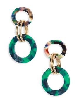 Resin Double Drop Earrings by Halogen