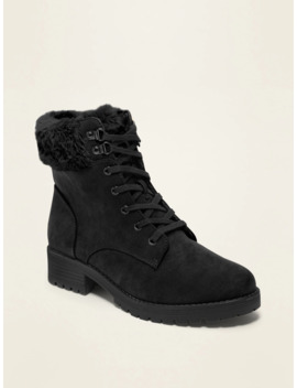 Faux Fur Lined Sueded Boots For Women by Old Navy