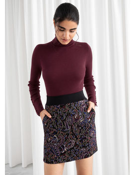 Paisley Metallic Mini Stretch Skirt by & Other Stories