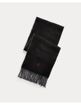 Reversible Wool Blend Scarf by Ralph Lauren
